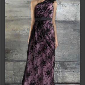 Bari Jay One Shoulder Lace Dress